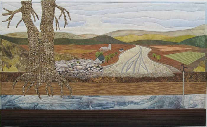 Climate Change - art quilt by Katharina Litchman