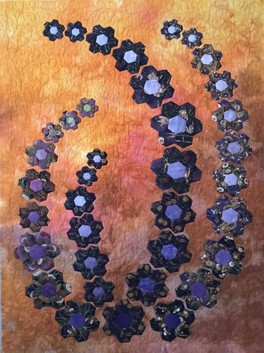 Delphinium - an art quilt by Katharina Litchman